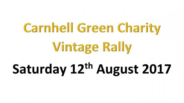 Carnhell Green Charity Vintage Rally will be held from 9am this Saturday, August 12, at fields close to Carnhell Green.